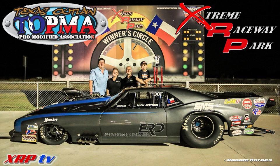 Snyder Celebrates In Style|Texas Outlaw Pro Mod Association|Xtreme Raceway Park